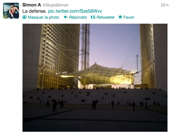 News twitter de Simon 22/10/12