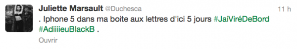 News twitter de juliette 23/10/12
