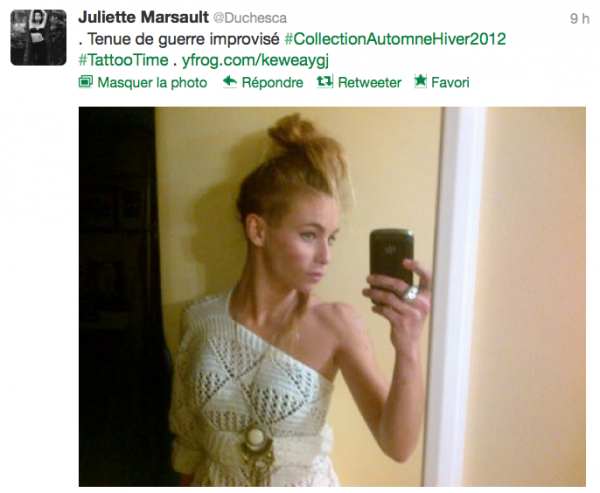 News twitter de juliette 25/10/12