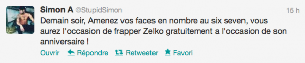 News twitter de Simon 26/10/12