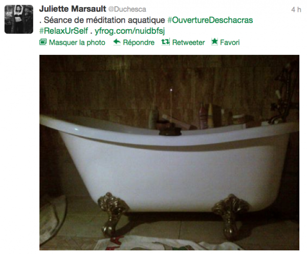 News twitter de juliette 26/10/12