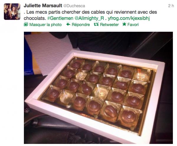 News twitter de juliette 02/11/12