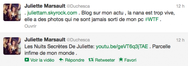 News twitter de juliette 02/11/12 suite