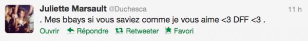 News twitter de juliette 05/11/12