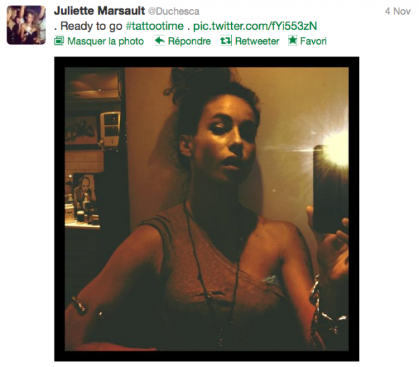 News twitter de juliette 04/11/12