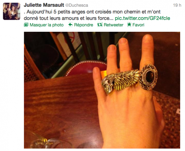 News twitter de juliette 06/11/12
