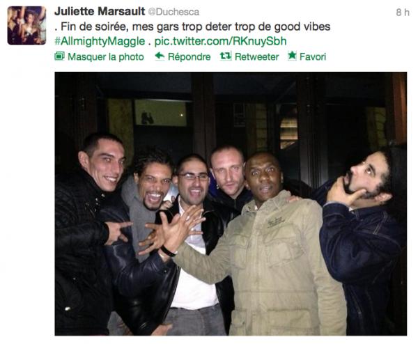 News twitter de juliette 11/11/12