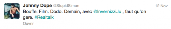 News twitter de Simon 13/11/12
