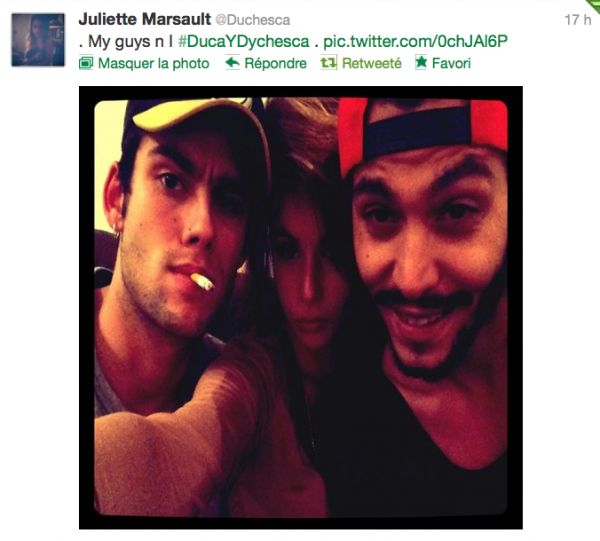 News twitter de juliette 16/11/12