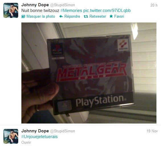 News twitter de Simon du 18/11/2012 et du 19/11/2012
