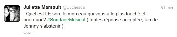 News twitter de Juliette du 21/11/2012