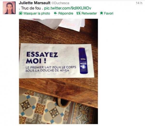 News twitter de juliette 23/11/12