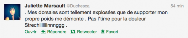 News twitter de juliette 27/11/12