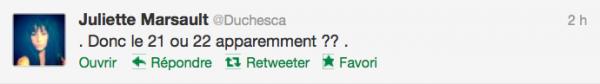 News twitter de juliette 28/11/12