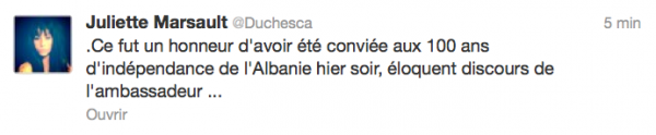News twitter de juliette 29/11/12