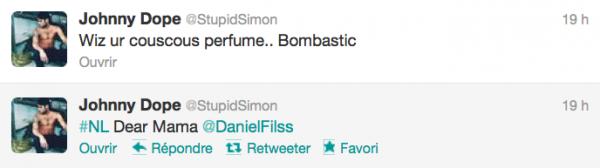 News twitter de Simon 01/12/12 et 30/11/12