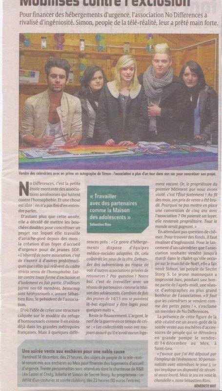 Simon à Amiens le 9/12/12 pour l'association No différence