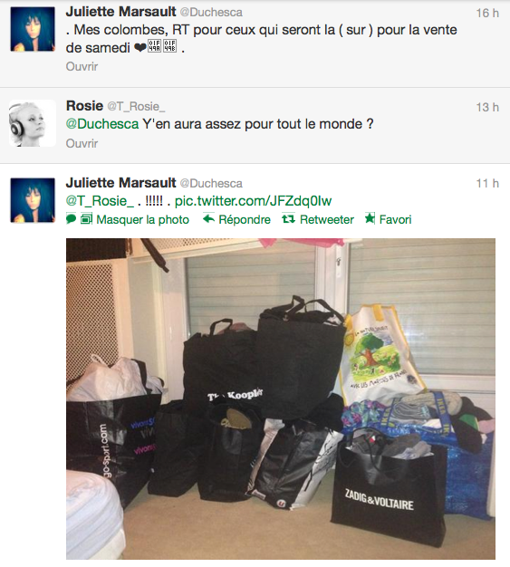 News twitter de juliette 17/12/12