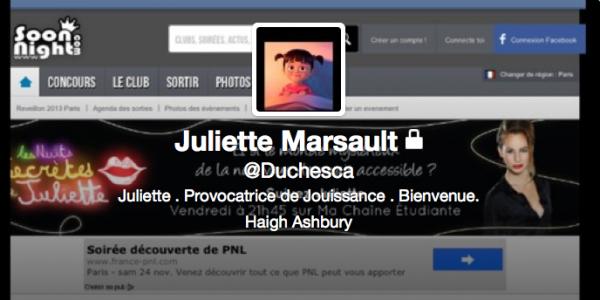 Nouvelle PP Twitter de Juliette 19/12/12