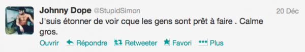 News twitter de Simon 21/12/12