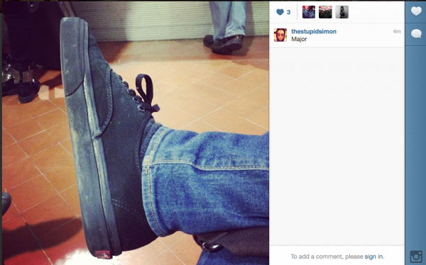 Photo de l'instragram de Simon 30/12/12