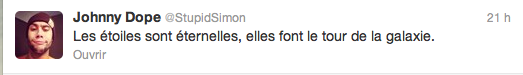 Tweet de Simon + photo de la soirée à Metz tweetée par Zelko (12.01.13)