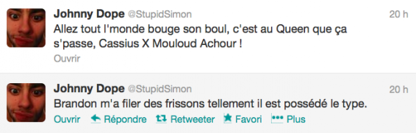 News twitter de Simon 18/01/13