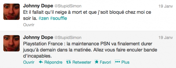 News twitter de Simon 19/01/13