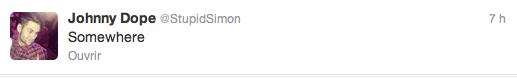 Nouvelle PP Twitter de Simon + tweet (11.02.13)