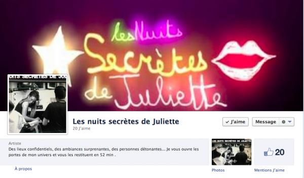 """Page FB """"Les Nuits secrètes de Juliette """""""