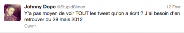 News twitter de Simon 12/02/13