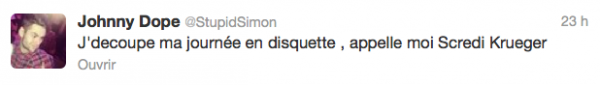 News twitter de Simon 14/02/13