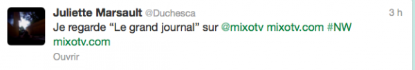News twitter de juliette 18/02/13