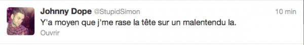 News twitter de Simon 17 et 18/02/13