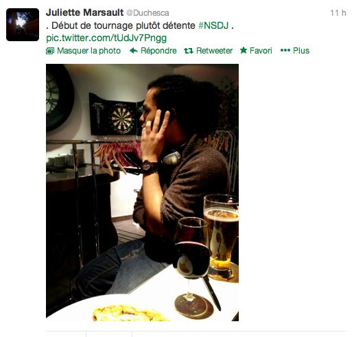 Tweet de Juliette (23.02.13)