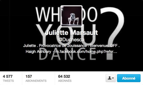 Nouvelle PP Twitter de Juliette 25/02/13