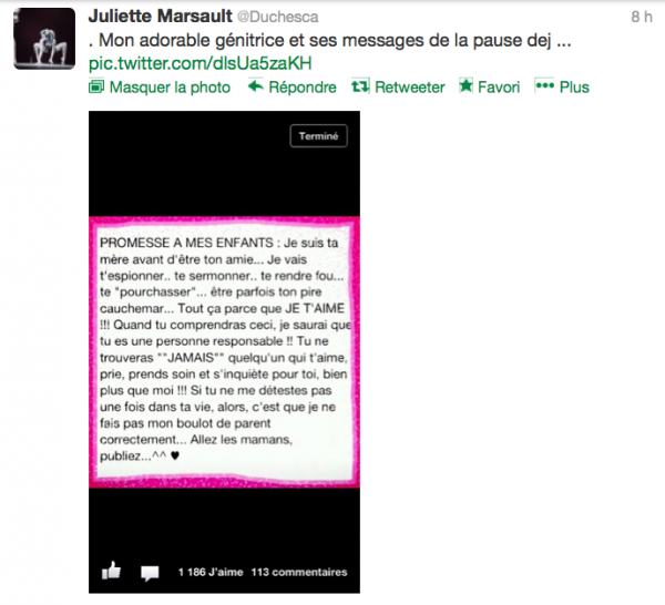 News twitter de juliette 28/02/13