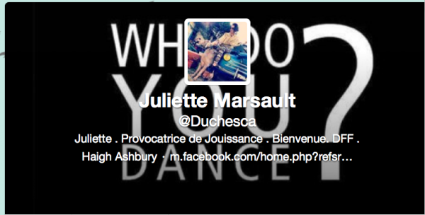 Nouvelle PP Twitter de Juliette 09/03/13