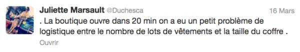 News twitter de juliette 16/03/13