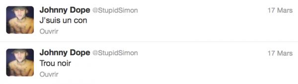 News twitter de Simon 17 et 18/03/13