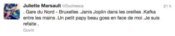 News twitter de juliette 23/03/13 1/2