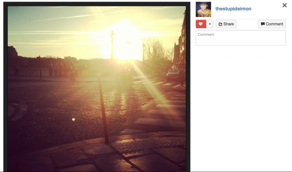 Photo instagram Simon 14 avril 2013