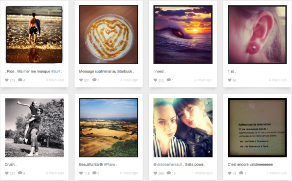 Instagram Juliette juillet 2013