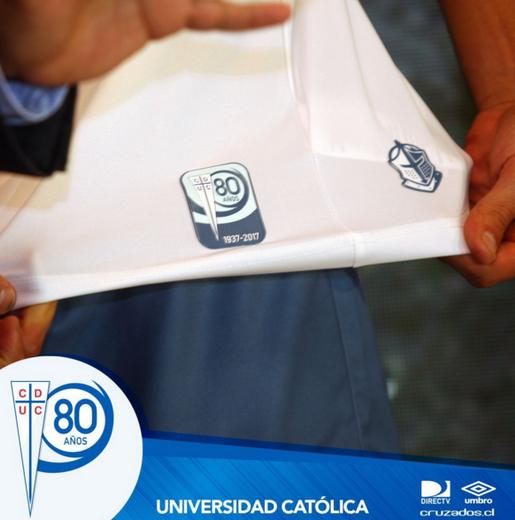 maglia Cilena Universidad Católica festeggia 80 anni