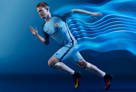 nuova maglia Manchester City De Bruyne  2017-2018