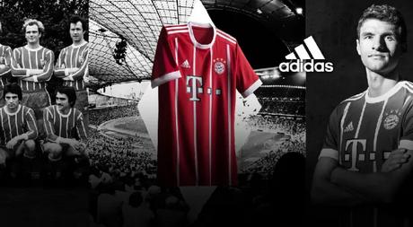 nuova maglia Bayern Monaco prima 2017-2018