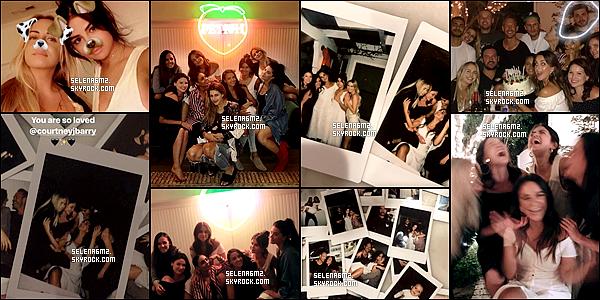 ○ Selena était invité a l'anniversaire de son amie courtney. J'aime bien les photos, la tenue de selena a l'air simple mais jolie. Je lui donne un Top et vous ?