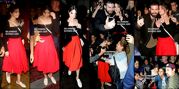 ○ Selena sortant d'ArcLight Hollywood à Los Angeles, le 19 / 08 / 2017. J'aime beaucoup sa tenue, elle est simple mais jolie. Je lui donne un Top et Vous ?