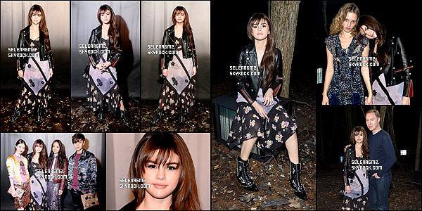 """○ Selena dans les Backstage du défilé """"COACH FW18 """" à New york. Le 13 / 02 / 2018."""