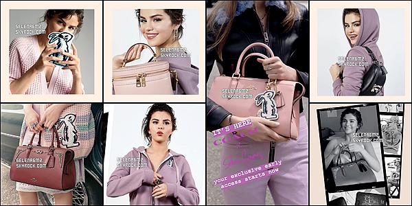 ○ Selena posant pour la marque COACH pour la nouvelle collection. J'aime beaucoup les tenues de selena surtout la violette. Moi je lui donne des Top et Vous ?
